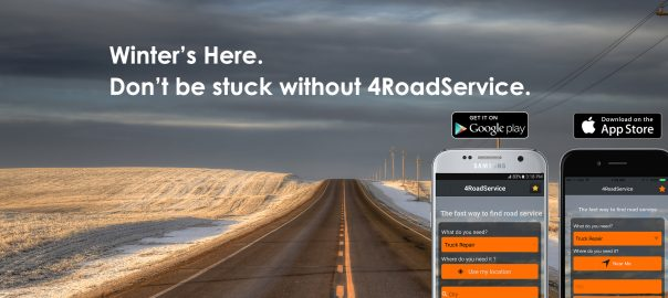 4RoadService Truck Repair App Winter 2017 Promo Image