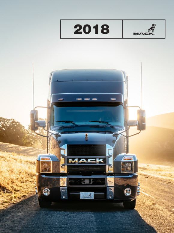 A promotional image for the 2018 Mack Wall Calendar